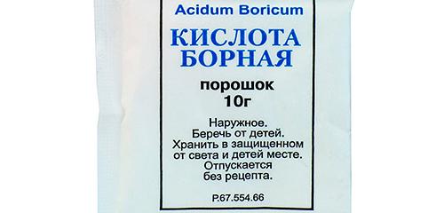 Gebruik van boorzuur tegen kakkerlakken